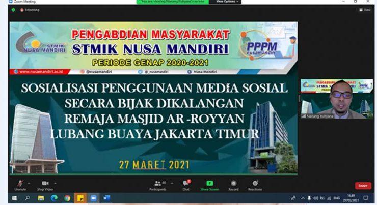 Nusa Mandiri Melakukan Pengabdian Masyarakat