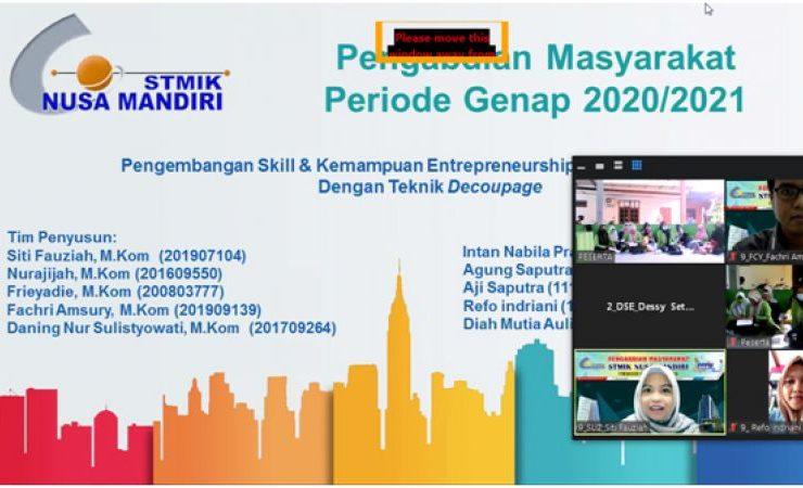 Pengembangan Skill & Kemampuan Entrepreneurship