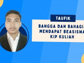 Taufik, Bangga dan Bahagia Terima Beasiswa KIP Kuliah di Universitas Nusa Mandiri